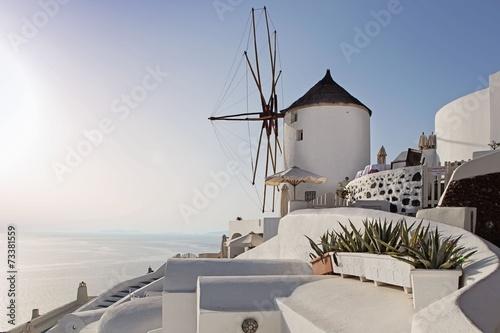 Windmill in Oia, Santorini, Greece - 73381559