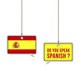 Learn Spanish - illustration concept