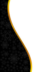 Abstract background. Decorated with snowflakes