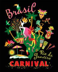Vector illustration of Brazilian Carnival.