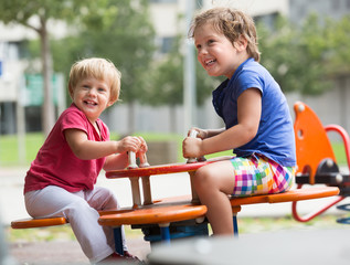 Children having fun at playground