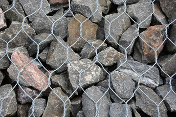 Gray stones background