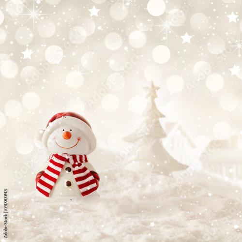 christmas snowman - 73383938