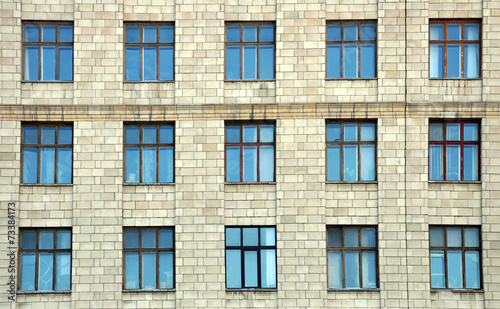 building with windows - 73384173