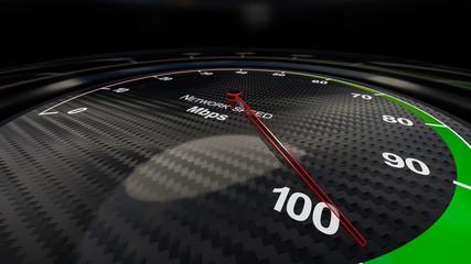 Network speed indicator