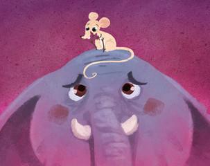 raton y elefante