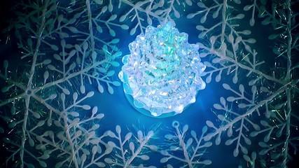 Glowing Glass Christmas Tree