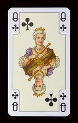 Spielkarten der Ladys - Kreuz Dame
