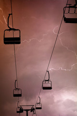 Cableway with lightning