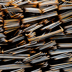 Steel rods or bars