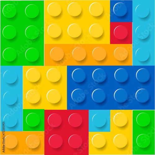 Lego blocks pattern vector - 73385951