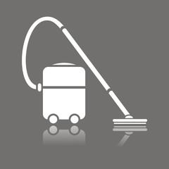 Icono aspirador industrial reflejo FO