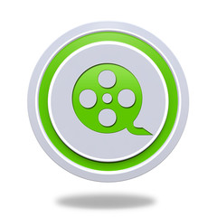 film circular icon on white background