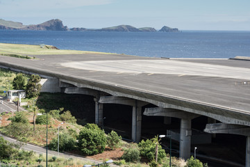 Empty airport runway, Madeira (Portugal)