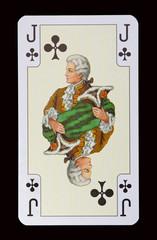 Spielkarten der Ladys - Kreuz Bube