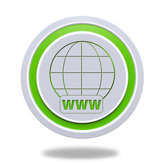 www circular icon on white background