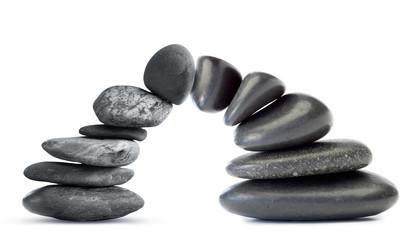 Zen arch of pebbles