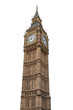 canvas print picture - Big Ben in London on white background