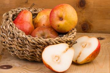 Pears in Basket still life