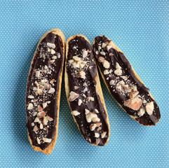 Gluten free chocolate almond biscotti