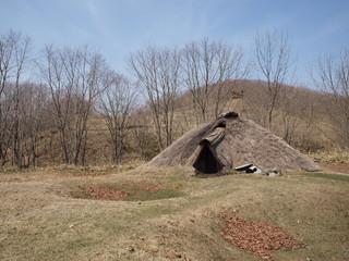 北斗遺跡の復元竪穴住居