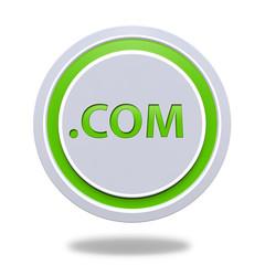 Com circular icon on white background