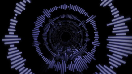 Music Lines Tunnel Background
