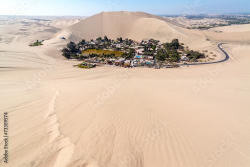 Canvas Woestijn Huacachina Oasis
