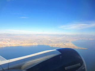 Alicante and bay from the sky