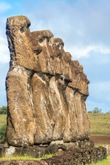 Seven Moai on Easter Island