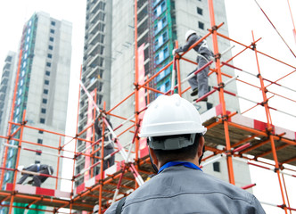 at construction site