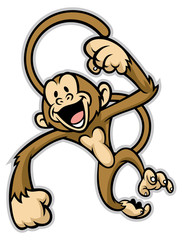 cheerful cute monkey