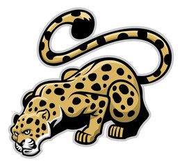 crouching leopard mascot