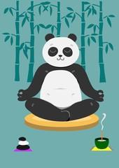 座禅するパンダ
