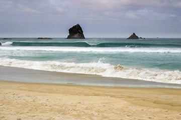 Rock formations at Sandfly Bay, Otago Peninsula, New Zealand