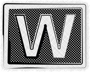 Polka Dot Font LETTER W