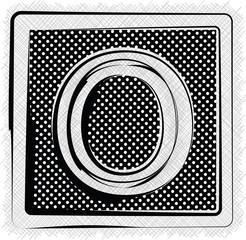 Polka Dot Font LETTER O