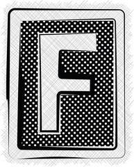 Polka Dot Font LETTER F