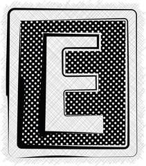 Polka Dot Font LETTER E
