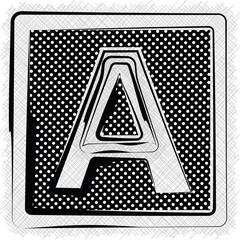 Polka Dot Font LETTER A
