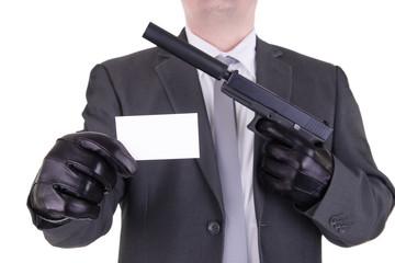 Elegant gangster hitman assassin