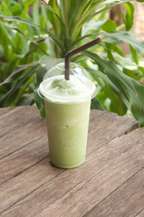 Thai milk green tea smoothie