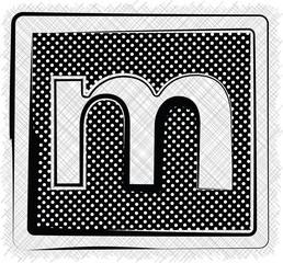 Polka Dot Font LETTER m
