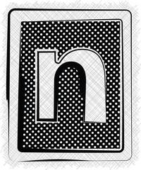Polka Dot Font LETTER n