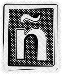 Polka Dot Font LETTER ñ