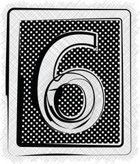 Polka Dot Font NUMBER 6