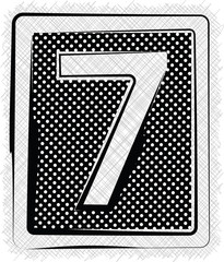 Polka Dot Font NUMBER 7