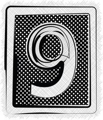 Polka Dot Font NUMBER 9