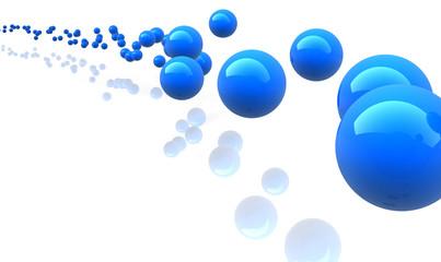 blue metallic spheres