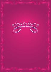 Minimalist Invitation Design in Pink and White